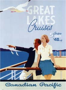 Canadian-Pacific-Great-Lakes-Cruises-Vintage-Travel-Poster